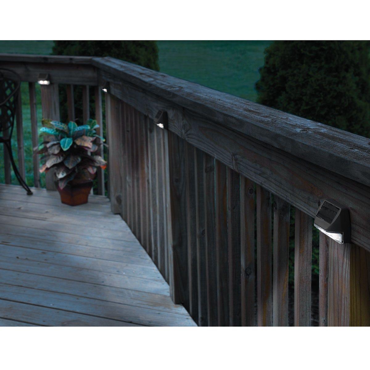 Solar deck post lights set of 4 from sporty 39 s tool shop - Solar deck lights for steps ...