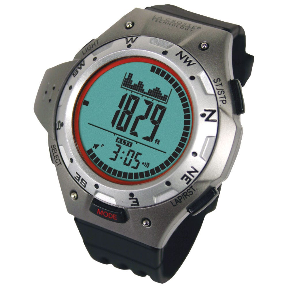 Digital altimeter compass watch from sporty 39 s pilot shop for Watches with compass