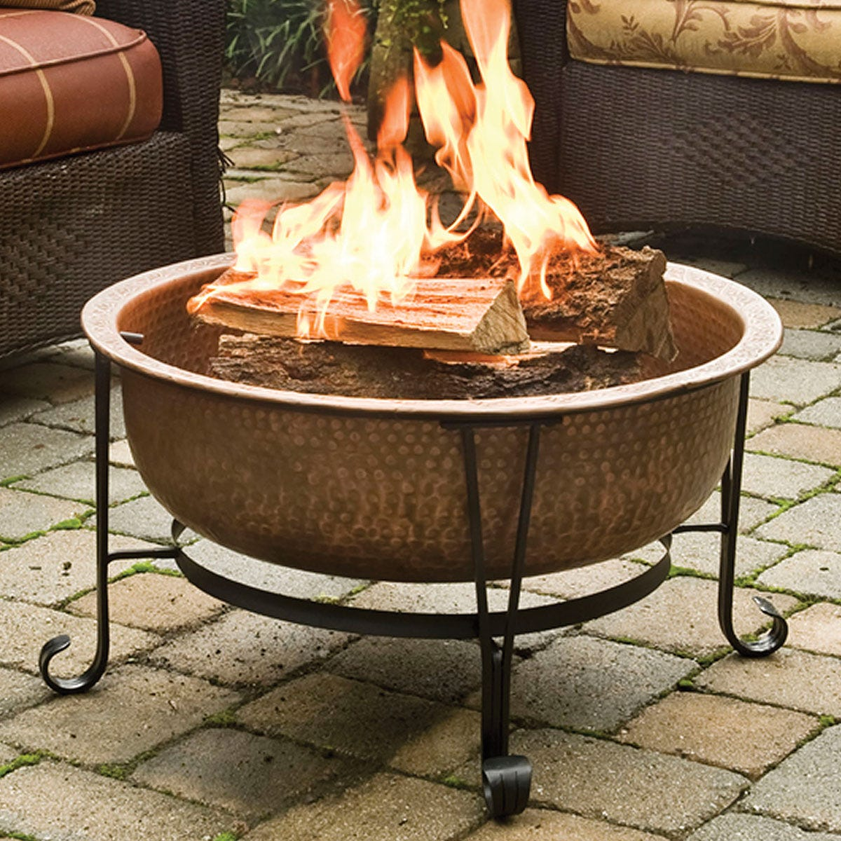 Hammered Copper Fire Pit From Sportys Preferred Living