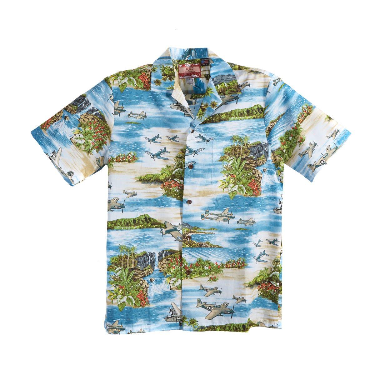 WWII Aircraft Hawaiian Shirt - from Sporty's Pilot Shop