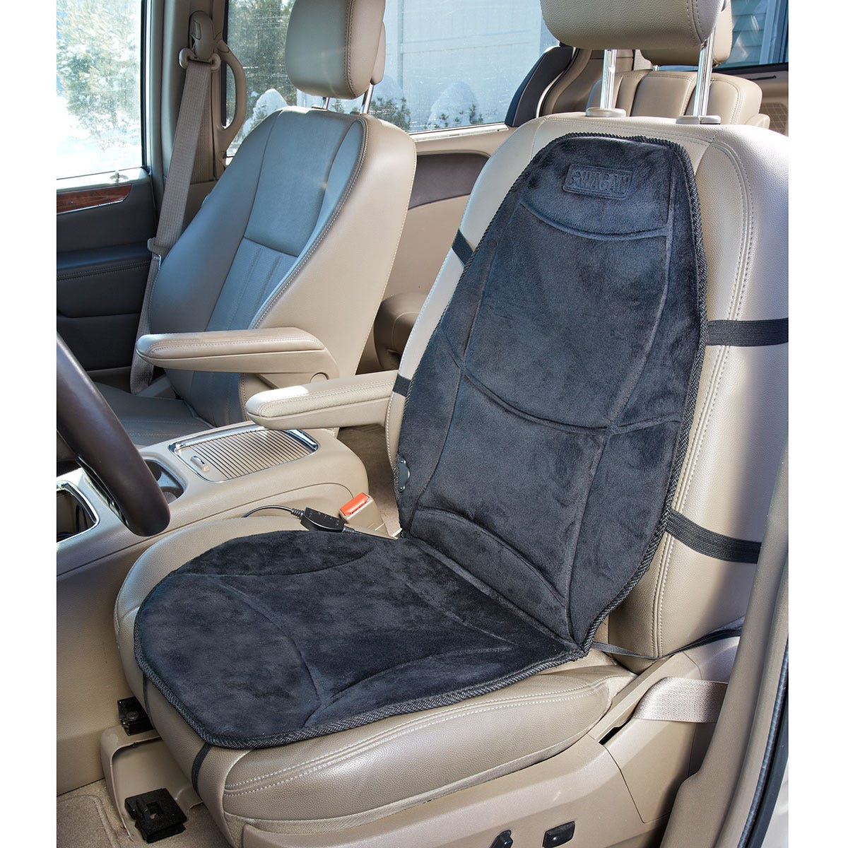 12v heated auto seat cushion from sporty 39 s tool shop. Black Bedroom Furniture Sets. Home Design Ideas