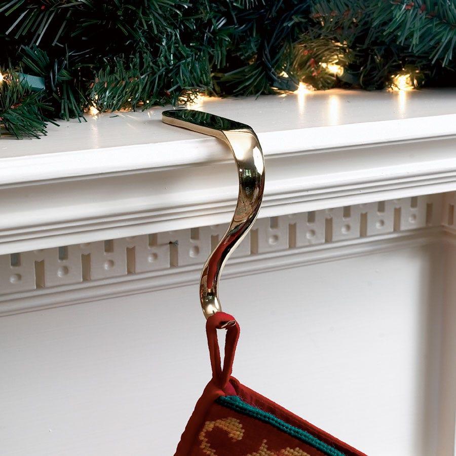 fireplace stocking hangers images Decor: Engaging Christmas Fireplace Stocking Holders In Stars And
