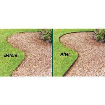 Steel Lawn Edging ( 4 inches high, 16 feet) - from Sportys ...