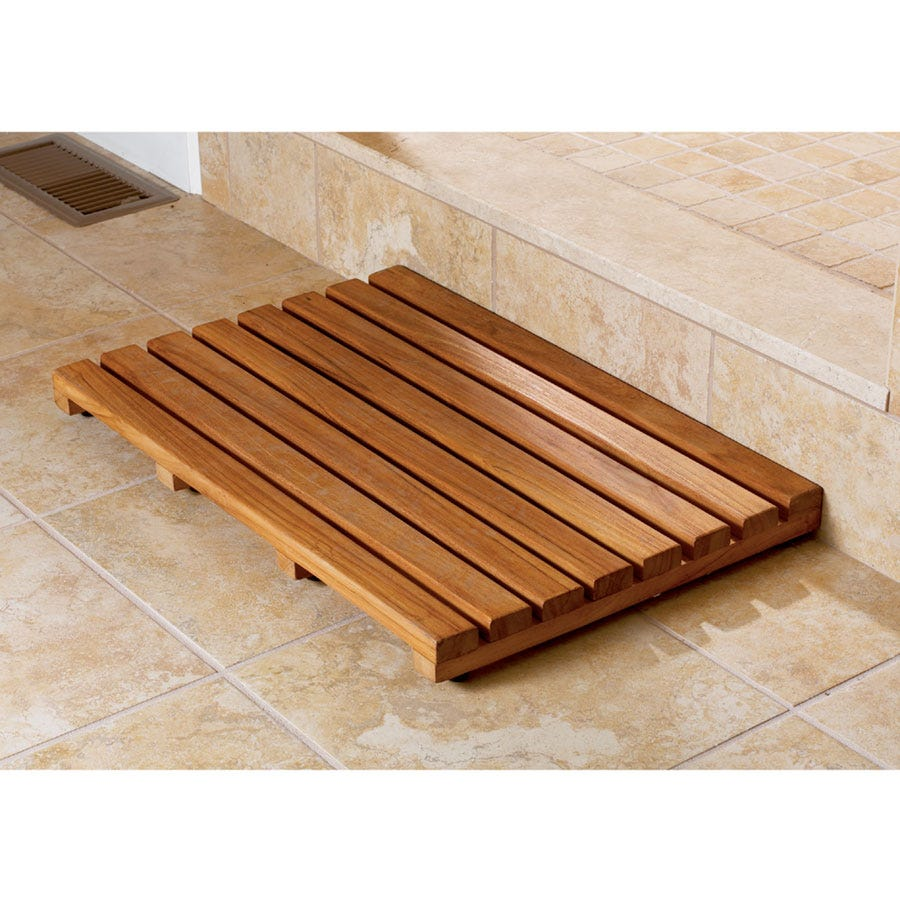 Teak Bath Mat From Sportys Preferred Living