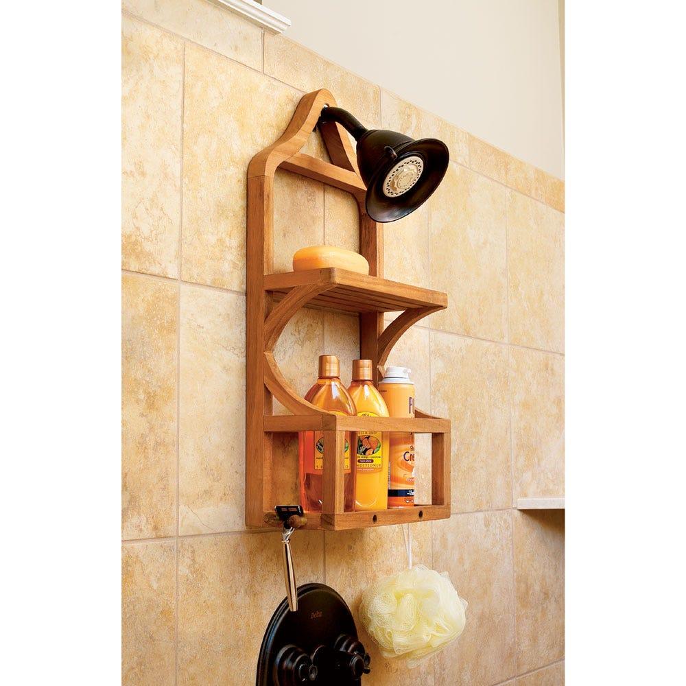 Teak Shower Organizer - from Sportys Preferred Living