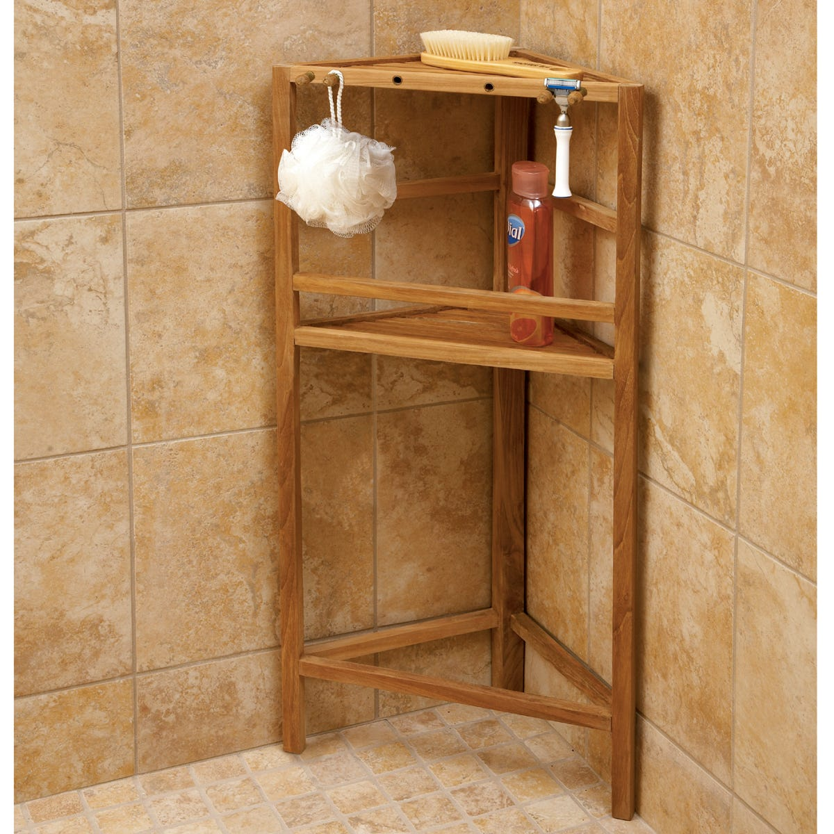 Teak Shower Shelving | Teak - from Sportys Preferred Living