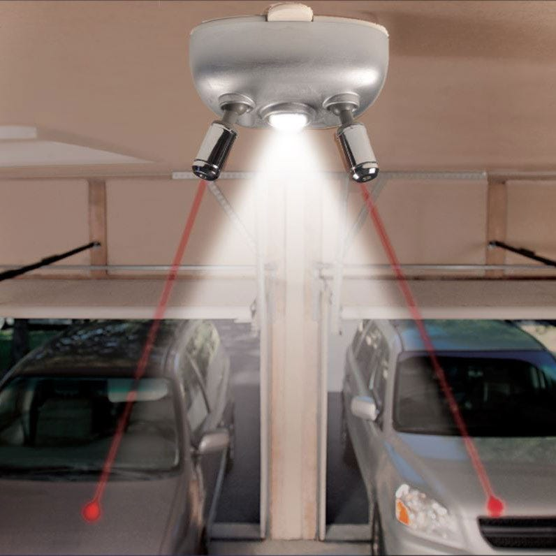 Two Car Laser Park With Motion-Activated Light