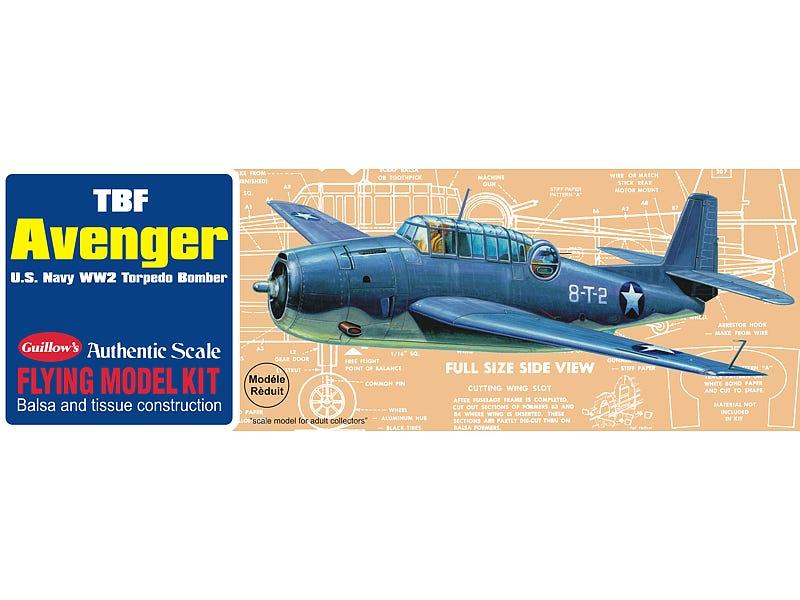 WWII Balsa Wood Fighter Model Kit (TBF Avenger)