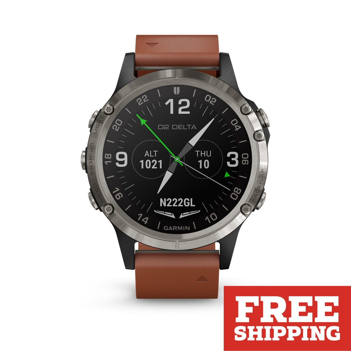3fd55043a16 Garmin D2 Delta Watch (Brown Leather Band Band 47mm ) - from Sporty s Pilot  Shop
