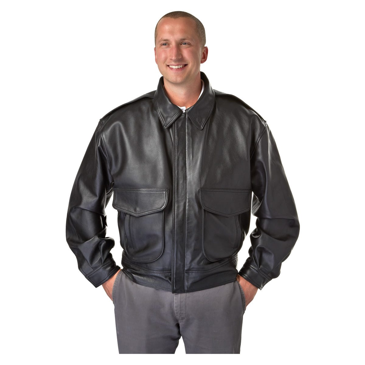 Super Soft Airline Captain's Leather Jacket