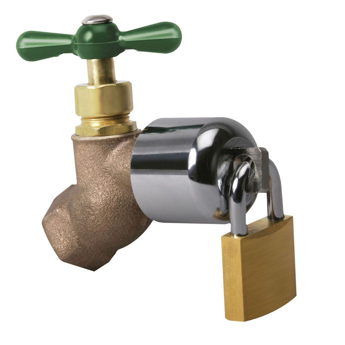 Outdoor Faucet Lock with Padlock