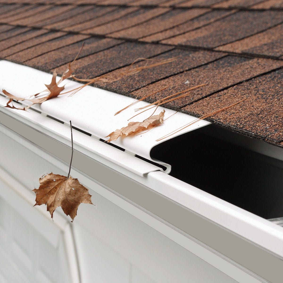 Solid Gutter Covers White From Sporty S Tool Shop