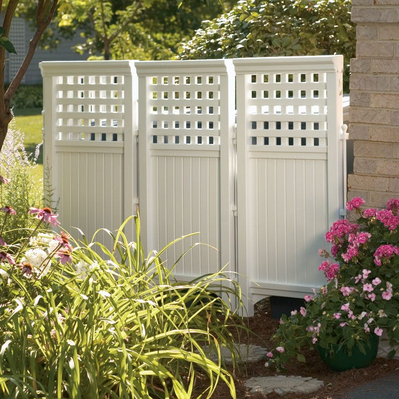 Hideaway privacy panels from sportys preferred living for Outdoor privacy screen white