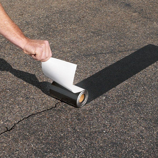 Peel And Stick Asphalt Driveway Repair System From