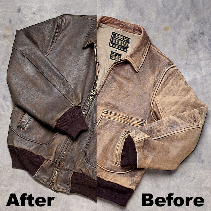 Sporty S Leather Jacket Cleaning From Pilot