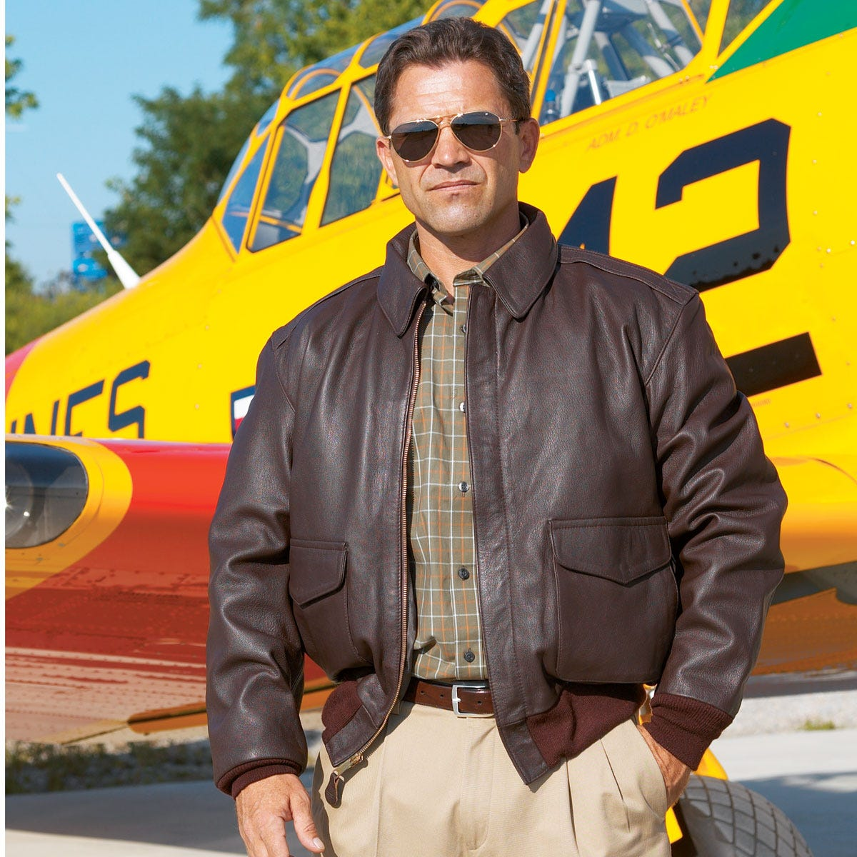 Current Issue A-2 Leather Flight Jacket - from Sporty's Pilot Shop