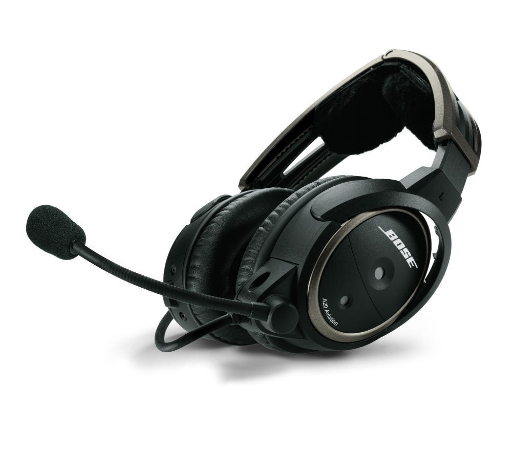 bose a20 aviation headset with bluetooth from sporty 39 s. Black Bedroom Furniture Sets. Home Design Ideas
