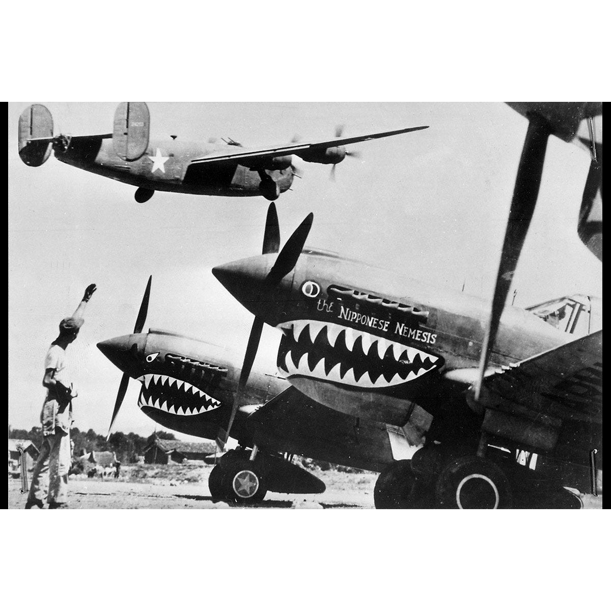 flying tigers avg t shirt from sporty 39 s pilot shop. Black Bedroom Furniture Sets. Home Design Ideas