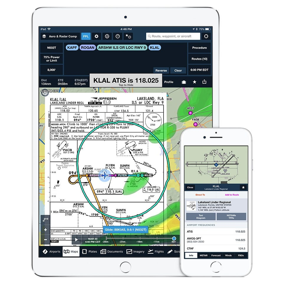 ForeFlight - Aviation\'s Top App (Basic Plus Subscription) - from ...