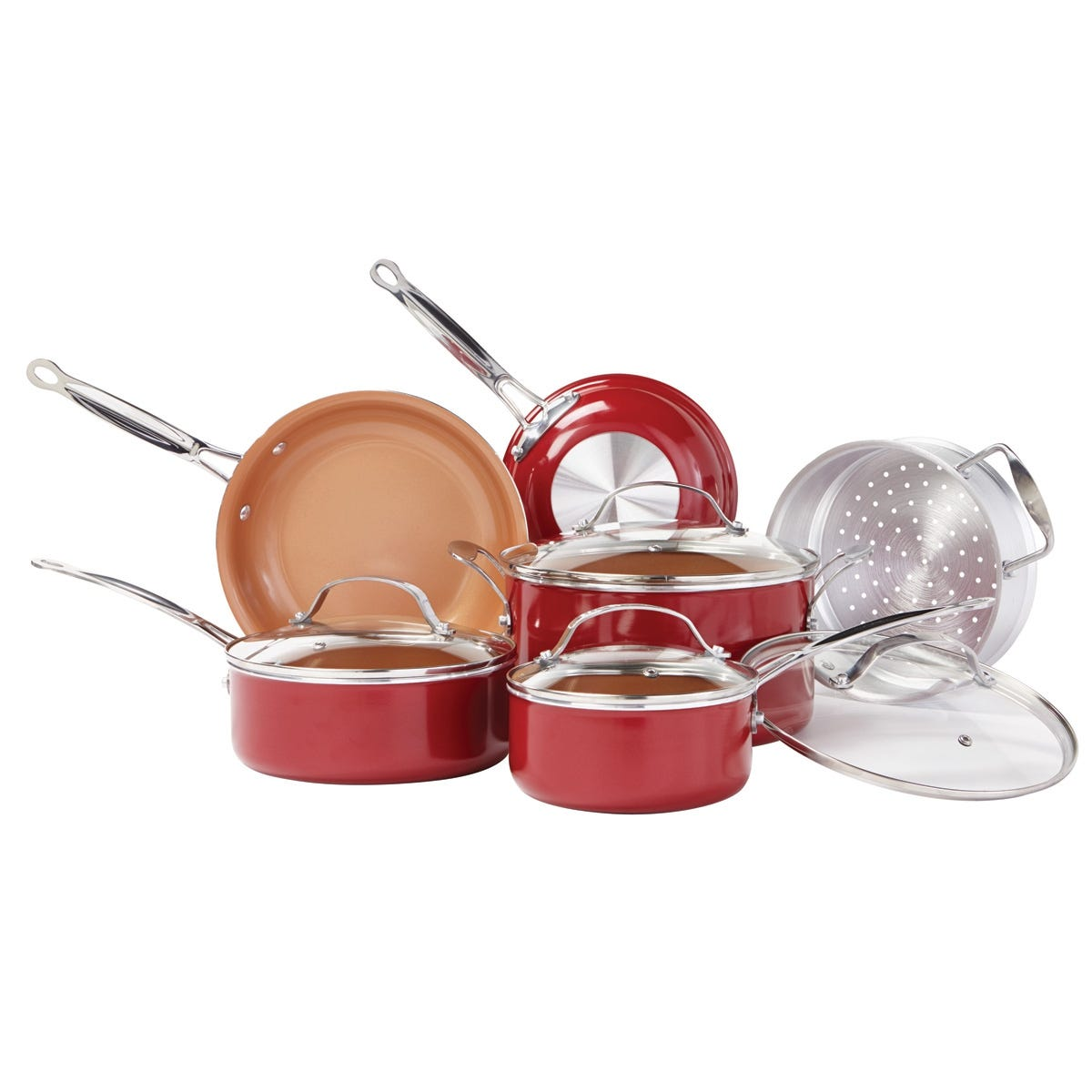 copper pots and pans copper 10 pc cookware set from sporty s tool shop 12444