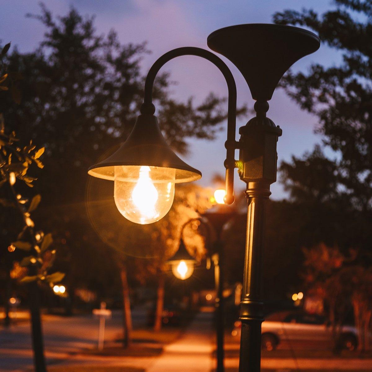 Terrific Shepherds Crook Outdoor Solar Lamp With Post Wiring Cloud Funidienstapotheekhoekschewaardnl