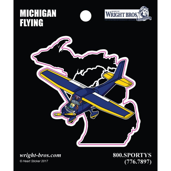 80d66d46a97fd Michigan State with Airplane Sticker - from Sporty s Pilot Shop