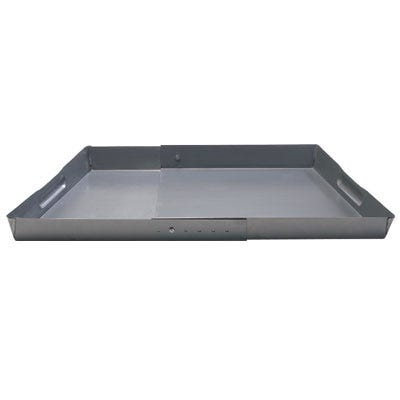 "Empty fireplace ashes and cinders in a snap Cleaning your fireplace shouldn't be a hassle; our Fireplace Tray makes it easy. Place adjustable galvanized Tray in your fireplace from 22"" up to 32"" wide to collect ashes and cinders. Two inch"