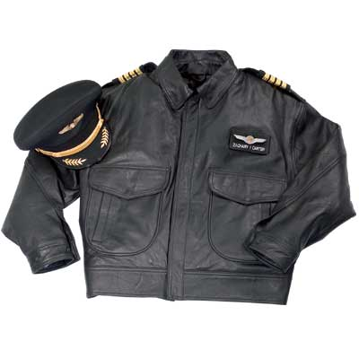 Airline Captain's Leather Flight Jacket - from Sporty's Pilot Shop