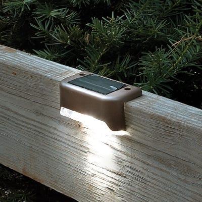 solar led deck lights set of 4. Black Bedroom Furniture Sets. Home Design Ideas