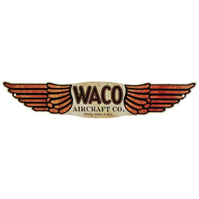 Vintage aircraft logo silhouette metal signs for American classic homes waco tx