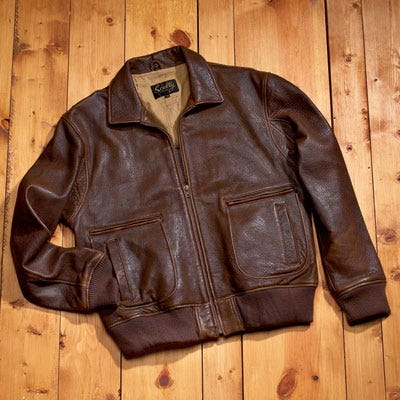 Leather B-2 Bomber Jacket | Flight Jackets | Apparel and ...