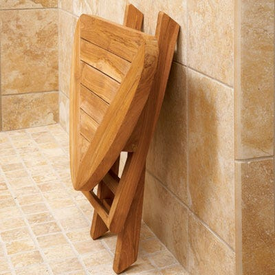 Teak Bathroom Stools teak corner bath stool - from sportys preferred living