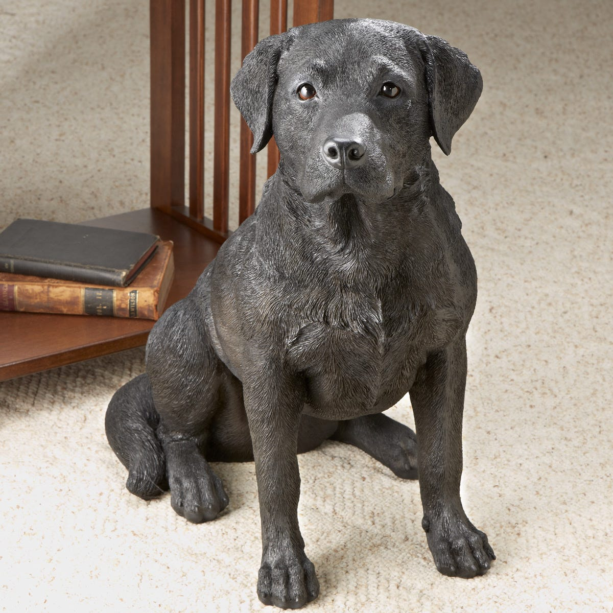 Black Lab Dog Statue Dog Cat Statues Around The House