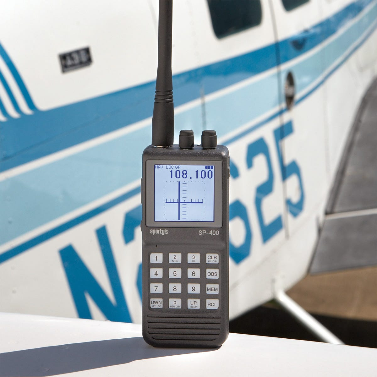 Sporty\'s SP-400 Handheld NAV/COM Aviation Radio - from Sporty\'s ...