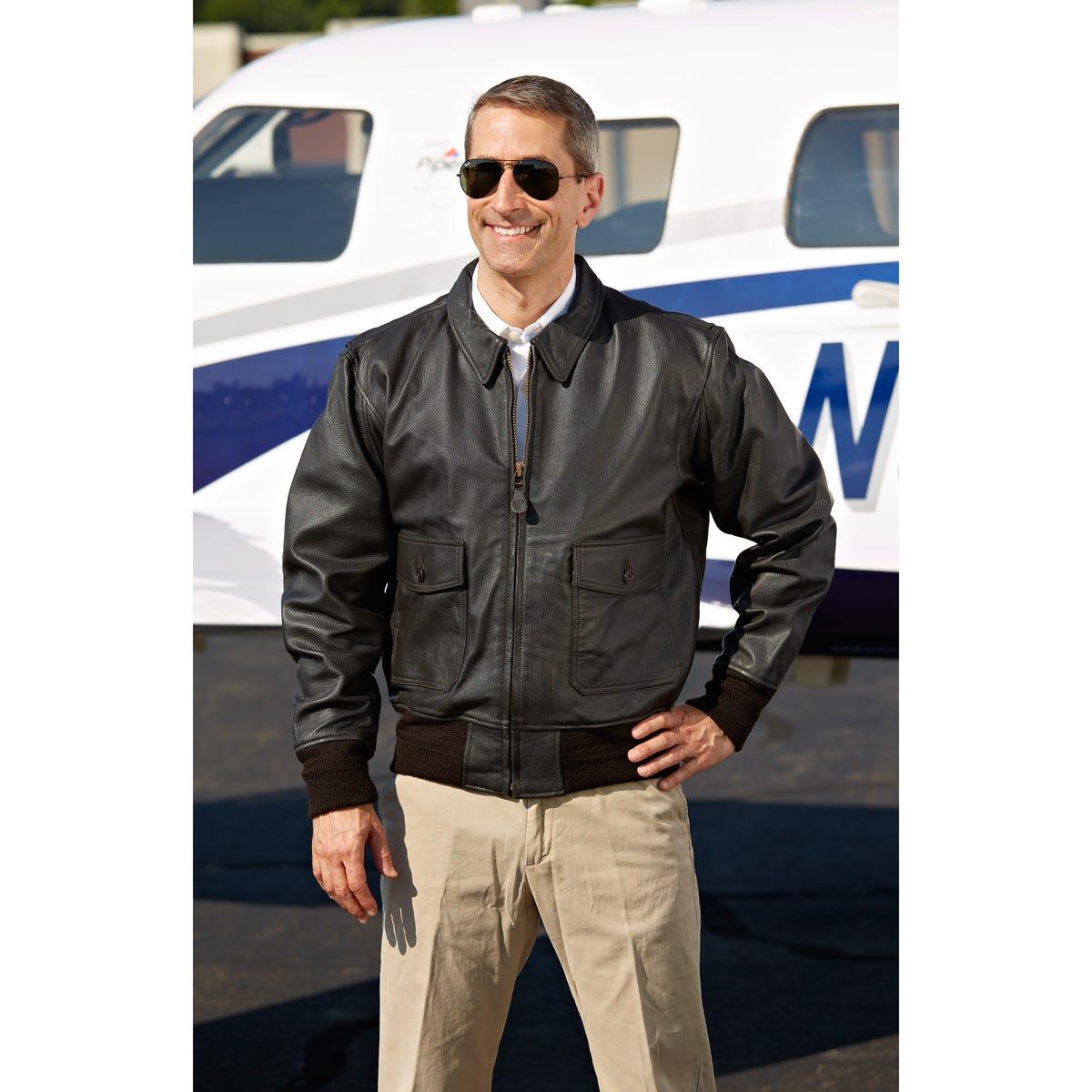 Modern Leather Flight Jacket - from Sporty s Pilot Shop 467e7b8018c