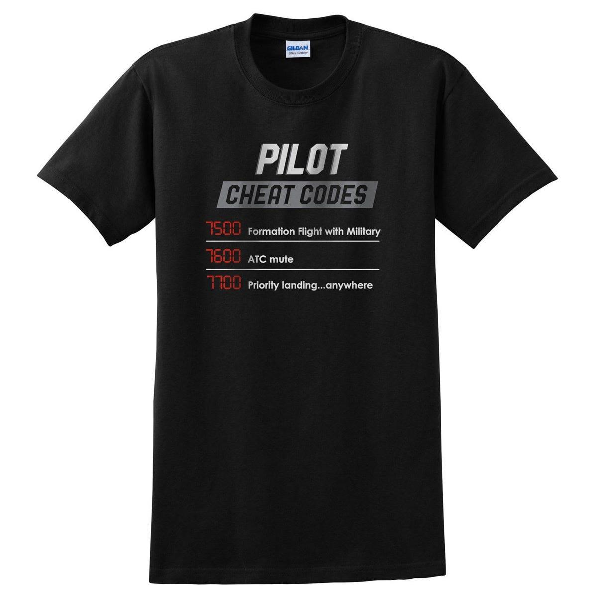 Pilot Cheat Codes T-Shirt