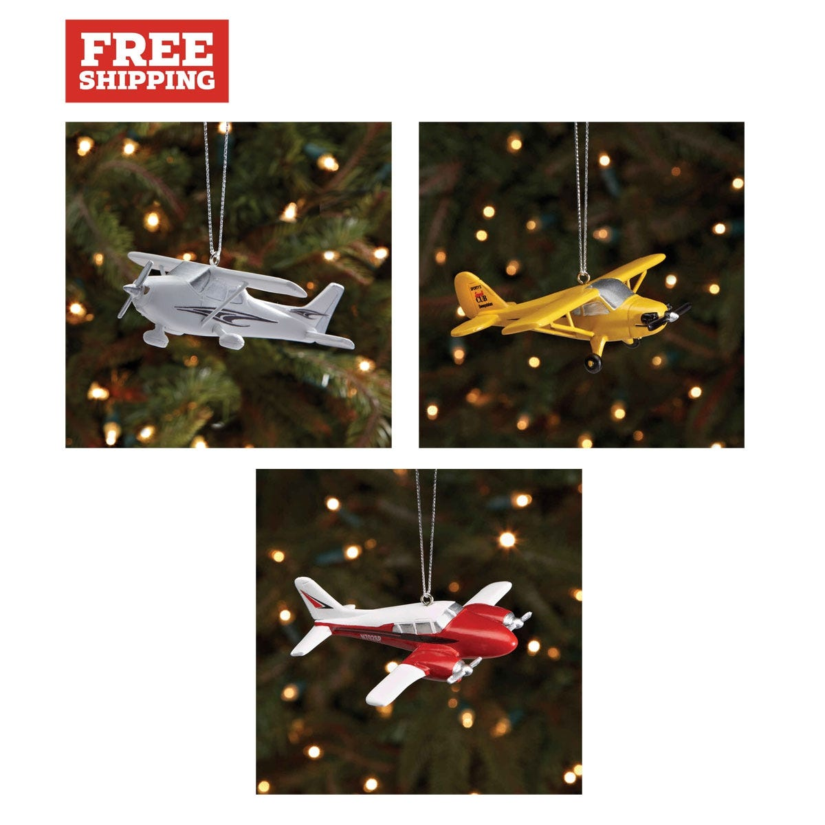 Piper Aztec, Cub, and Cessna 172 Christmas Ornaments - from Sporty\'s ...