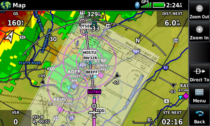 Garmin aera 760 approach