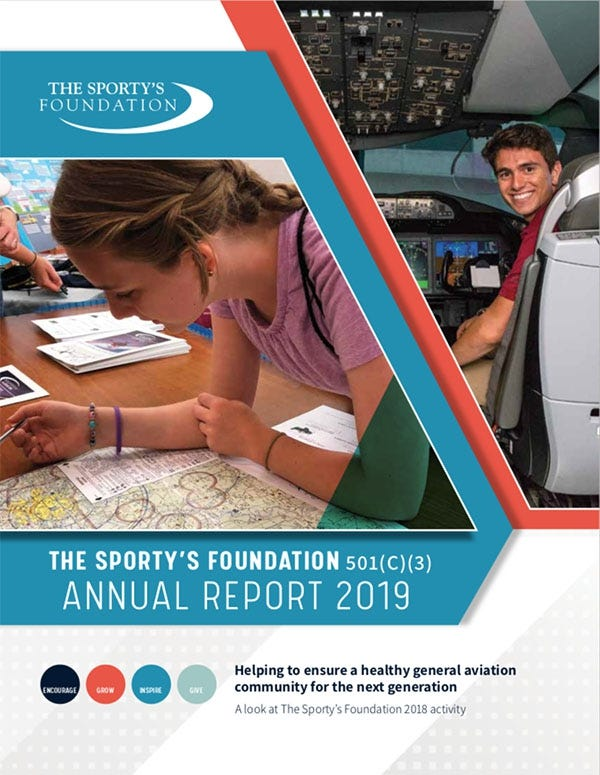 2019 Sporty's Foundation Annual Report