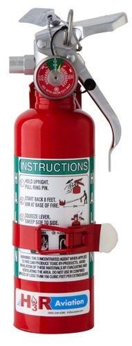 Halon fire extinguisher