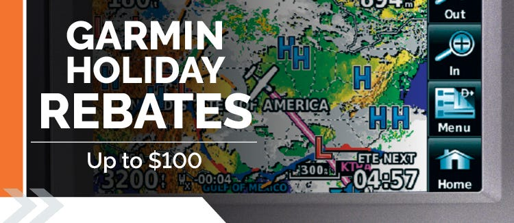 up to $100 mail in rebate on garmin