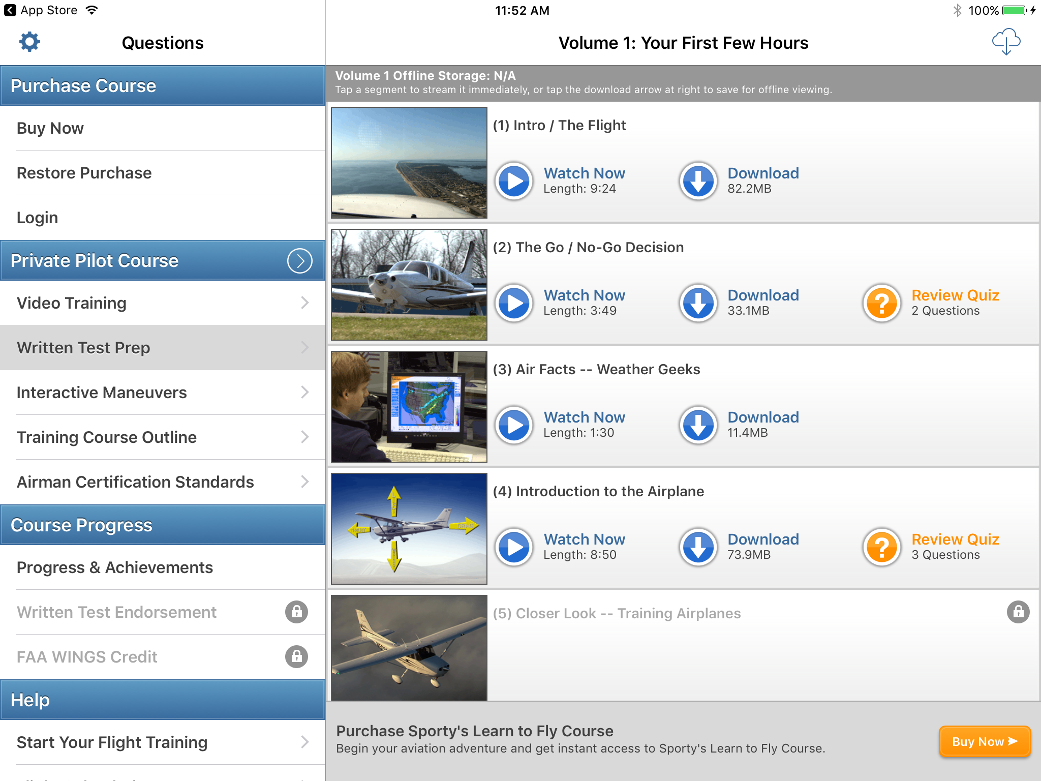 3 new features on the learn to fly app student pilot news written test prep xflitez Choice Image