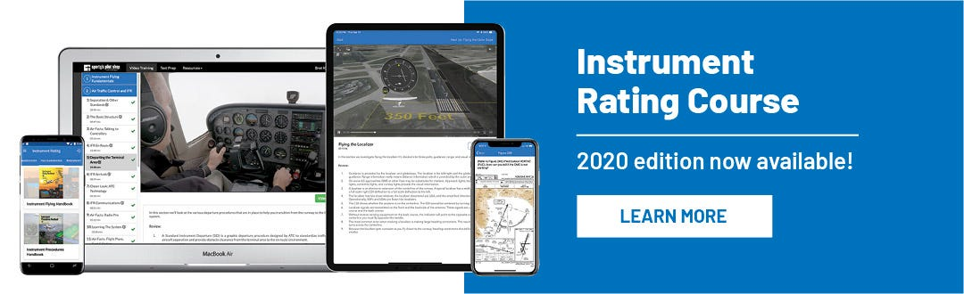 Instrument Rating Course - 2020 Edition now available