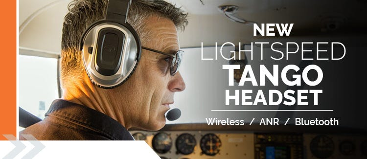 Aviation trends for 2016: an image of the Lightspeed Tango Headset