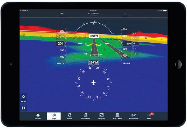 Stratus ForeFlight synthetic vision runway
