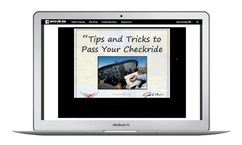 Checkride tips
