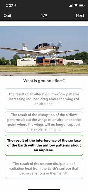 Takeoff quiz