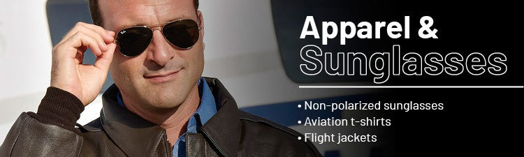 Aviation apparel and sunglasses