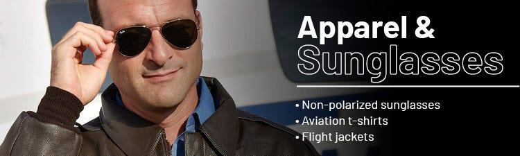 Aviation apparel and sunglasses