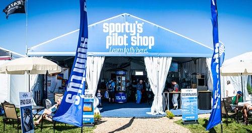 Sporty's tent at Sun 'n Fun